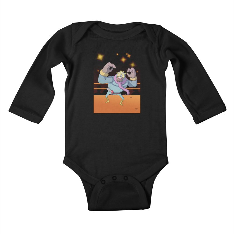Potato Wrestler - Thanksgiving Kids Baby Longsleeve Bodysuit by jasonmayart's Artist Shop