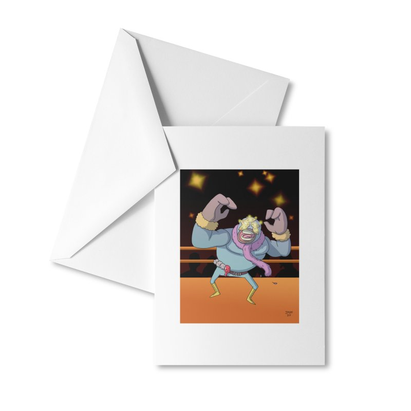 Potato Wrestler - Thanksgiving Accessories Greeting Card by jasonmayart's Artist Shop