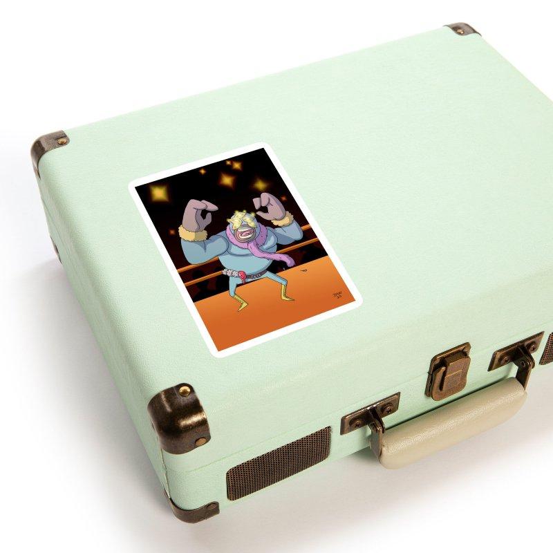 Potato Wrestler - Thanksgiving Accessories Sticker by jasonmayart's Artist Shop