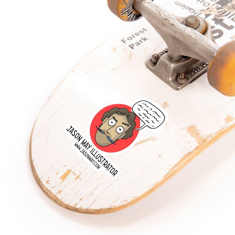 Jason May Illustrator Accessories Sticker by jasonmayart's Artist Shop