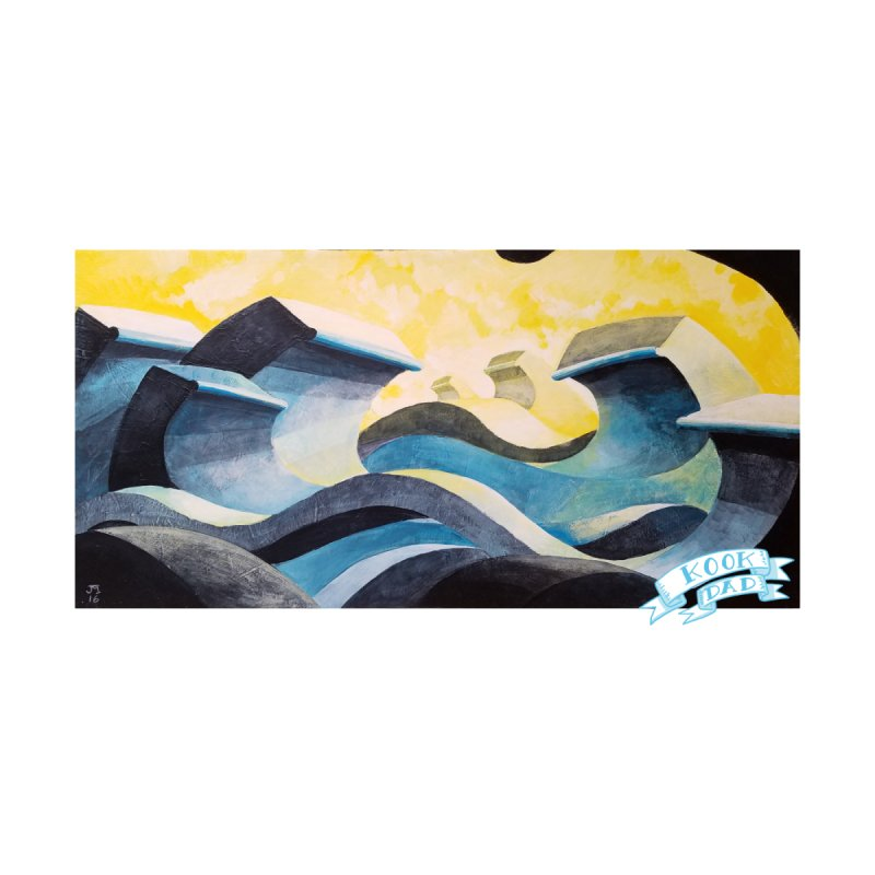 Concrete Waves Accessories Sticker by jasonmayart's Artist Shop
