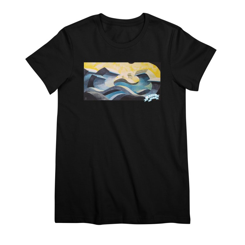 Concrete Waves Women's T-Shirt by jasonmayart's Artist Shop