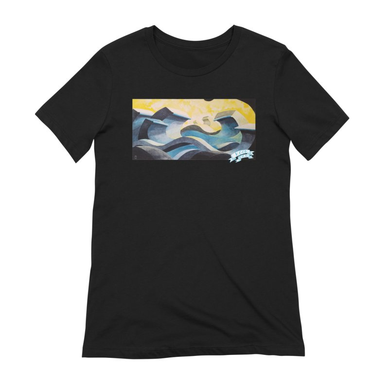 Concrete Waves Women's T-Shirt by jasonmayart's Artist Shop