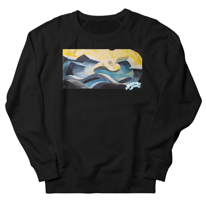 Concrete Waves Women's Sweatshirt by jasonmayart's Artist Shop
