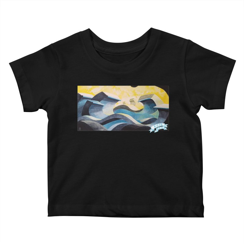 Concrete Waves Kids Baby T-Shirt by jasonmayart's Artist Shop
