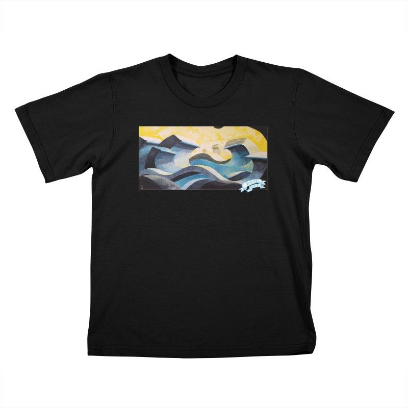 Concrete Waves Kids T-Shirt by jasonmayart's Artist Shop