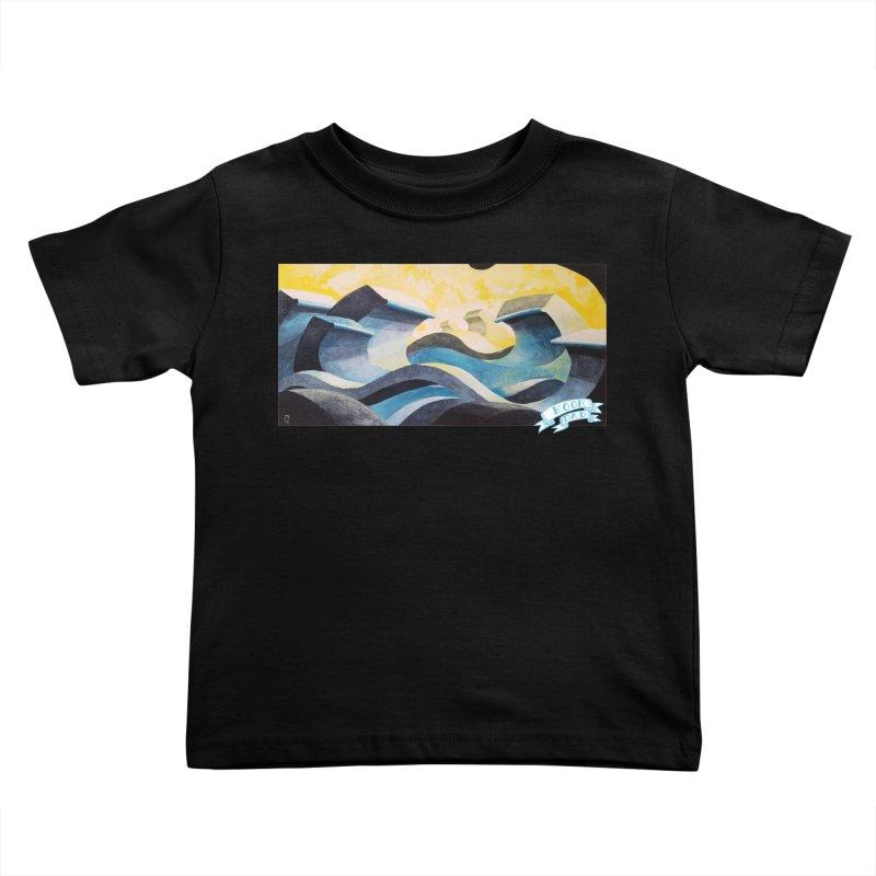 Concrete Waves Kids Toddler T-Shirt by jasonmayart's Artist Shop