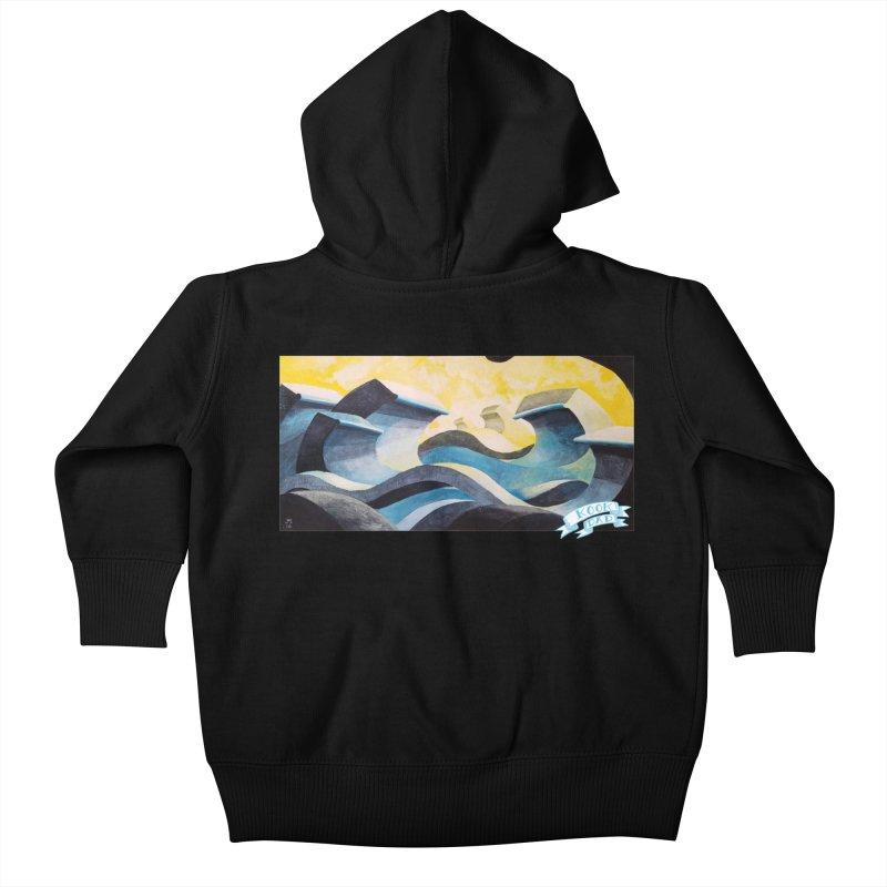 Concrete Waves Kids Baby Zip-Up Hoody by jasonmayart's Artist Shop