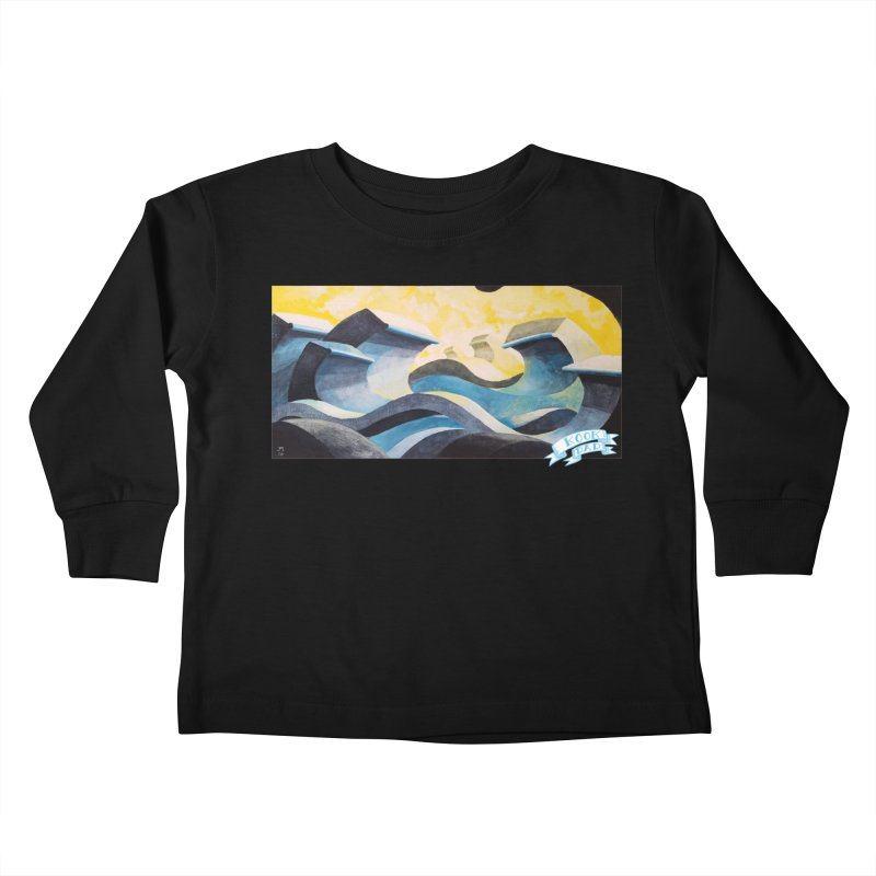 Concrete Waves Kids Toddler Longsleeve T-Shirt by jasonmayart's Artist Shop