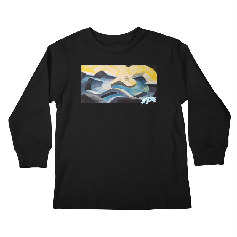 Concrete Waves Kids Longsleeve T-Shirt by jasonmayart's Artist Shop