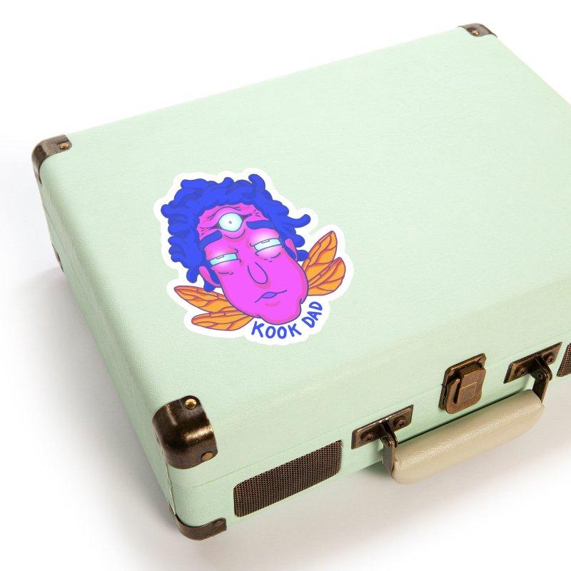 Psychedelic Floating Head Accessories Sticker by jasonmayart's Artist Shop