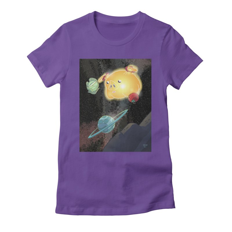 Pigs In Space from Space March on the Jason May Draw Club House Women's T-Shirt by jasonmayart's Artist Shop