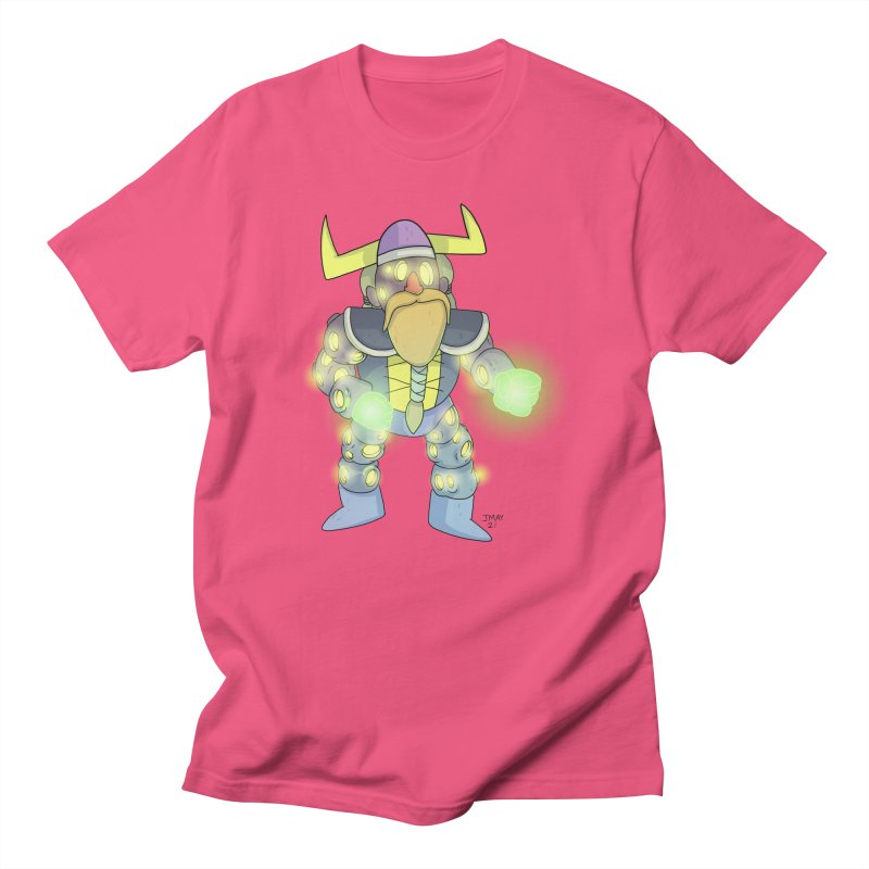 Asteroid Viking Space Adventurer Men's T-Shirt by jasonmayart's Artist Shop