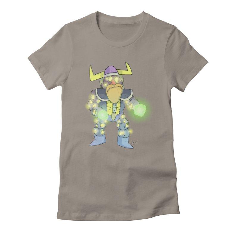 Asteroid Viking Space Adventurer Women's T-Shirt by jasonmayart's Artist Shop