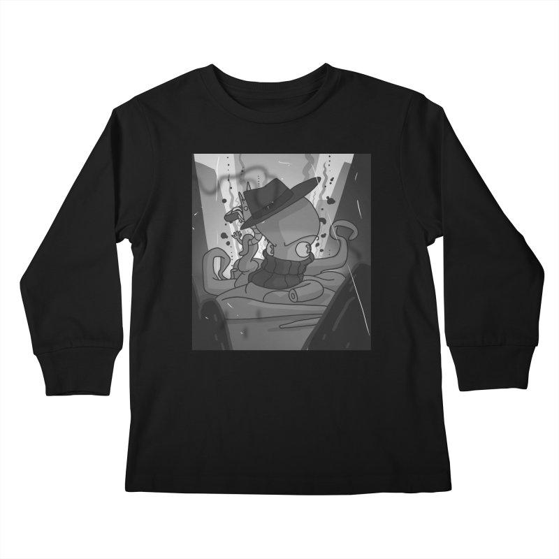 Underwater 1920s Mobsters Kids Longsleeve T-Shirt by jasonmayart's Artist Shop