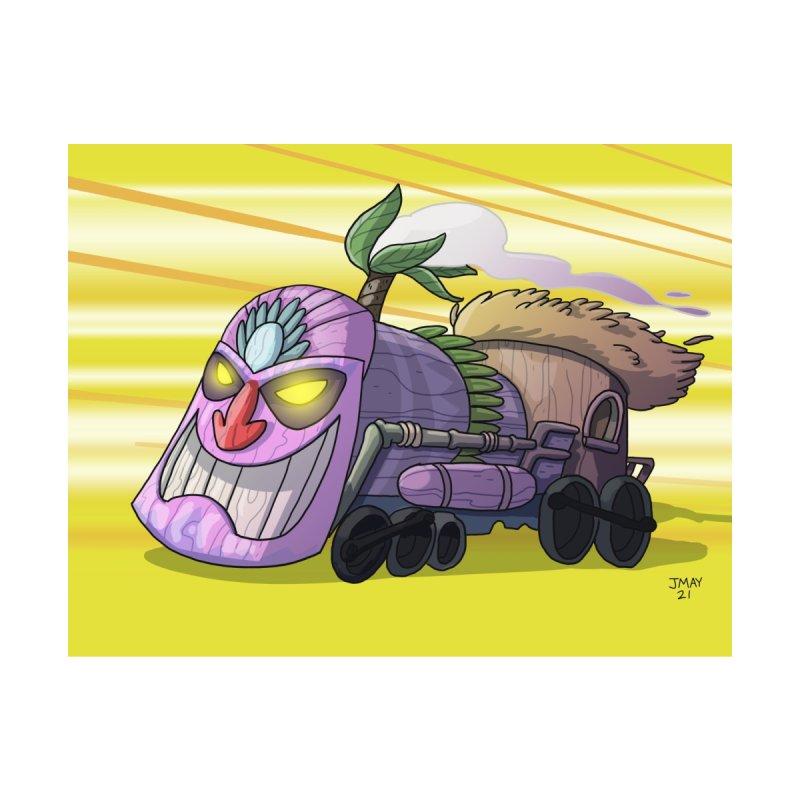 Tiki Train! from Jason May Draw Club House Accessories Zip Pouch by jasonmayart's Artist Shop