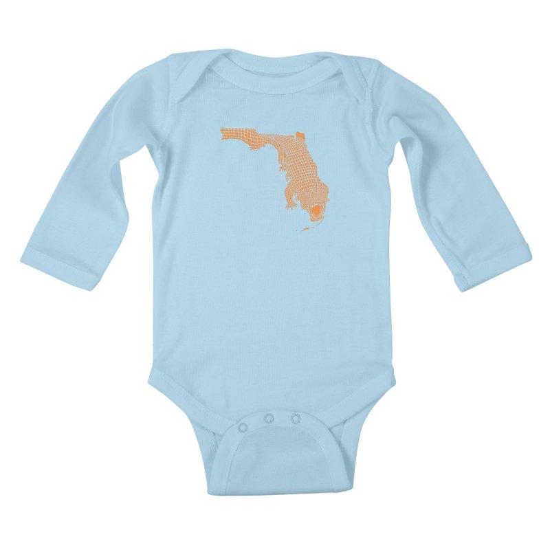 Florida Gator 2 Kids Baby Longsleeve Bodysuit by Jason McDade
