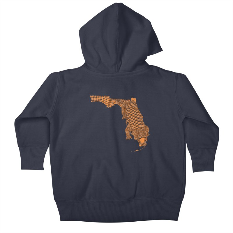 Florida Gator 2 Kids Baby Zip-Up Hoody by Jason McDade