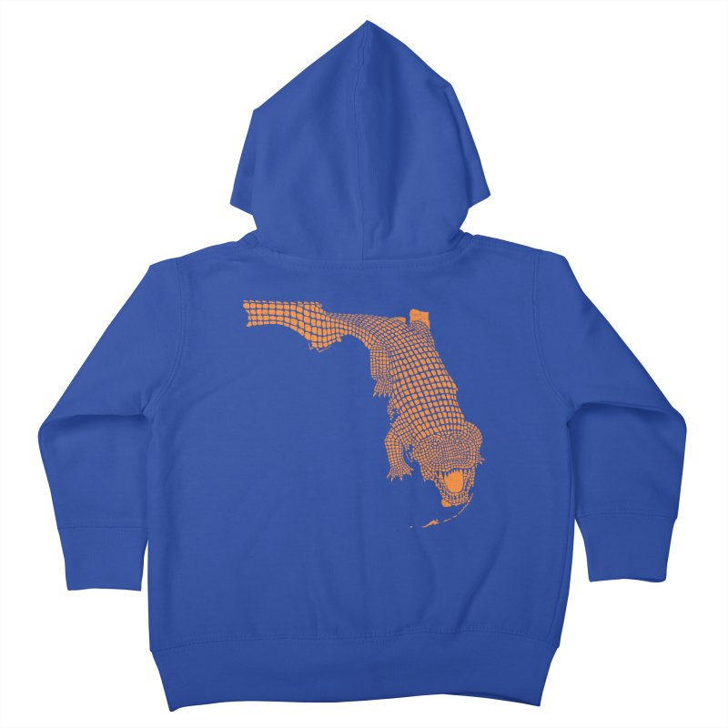 Florida Gator 2 Kids Toddler Zip-Up Hoody by Jason McDade