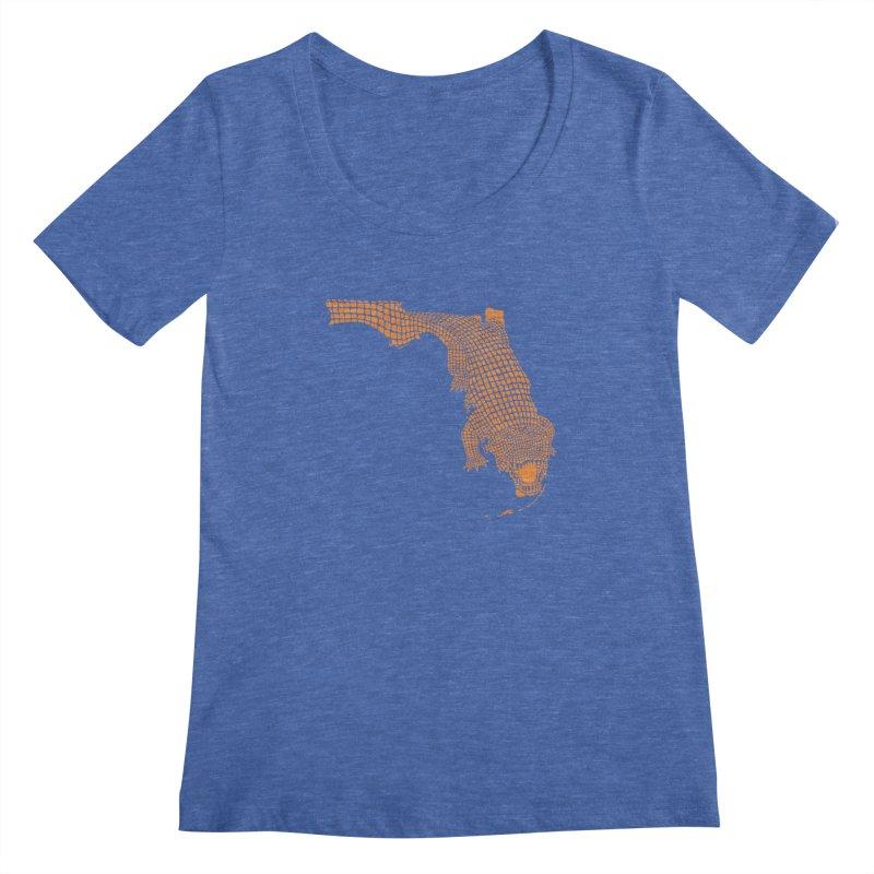 Florida Gator 2 Women's Scoopneck by Jason McDade