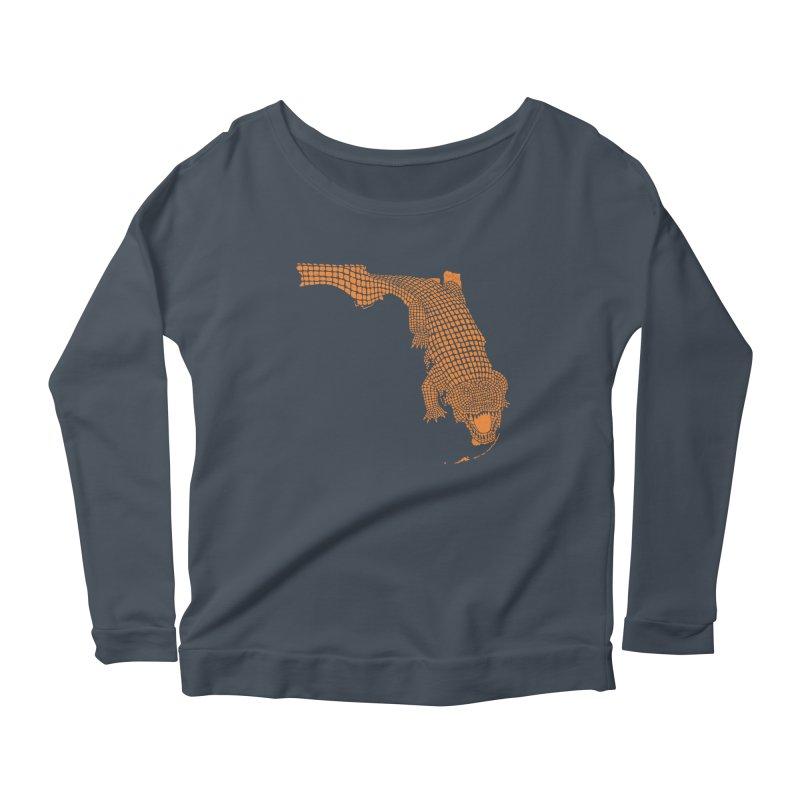 Florida Gator 2 Women's Longsleeve Scoopneck  by Jason McDade
