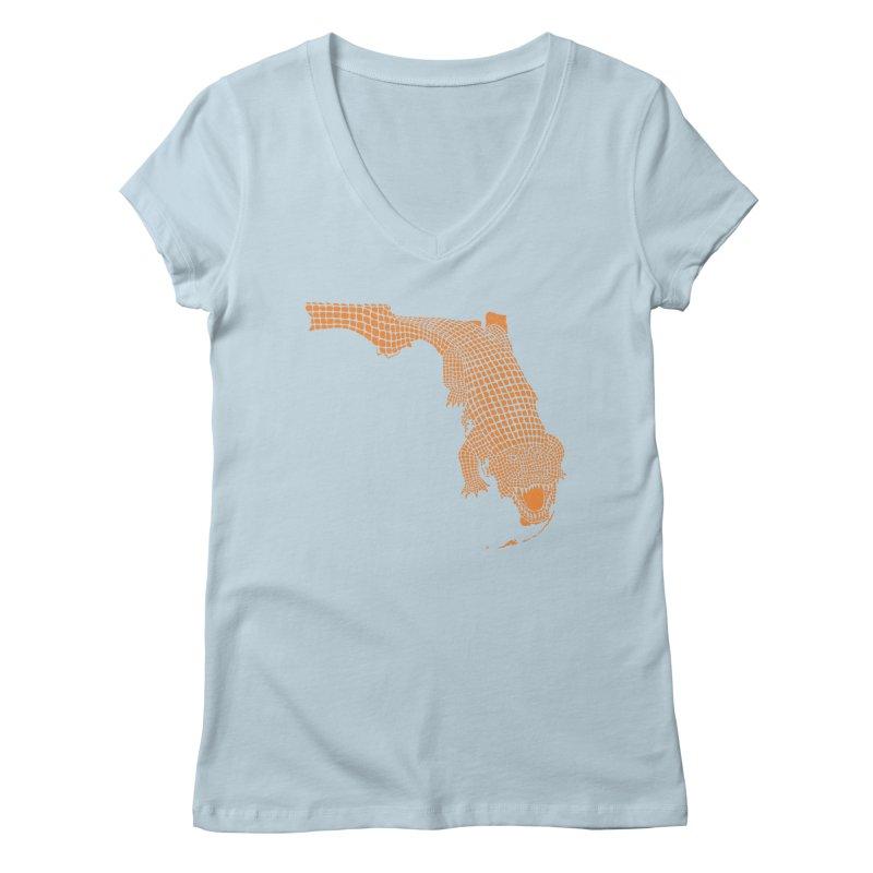 Florida Gator 2 Women's V-Neck by Jason McDade