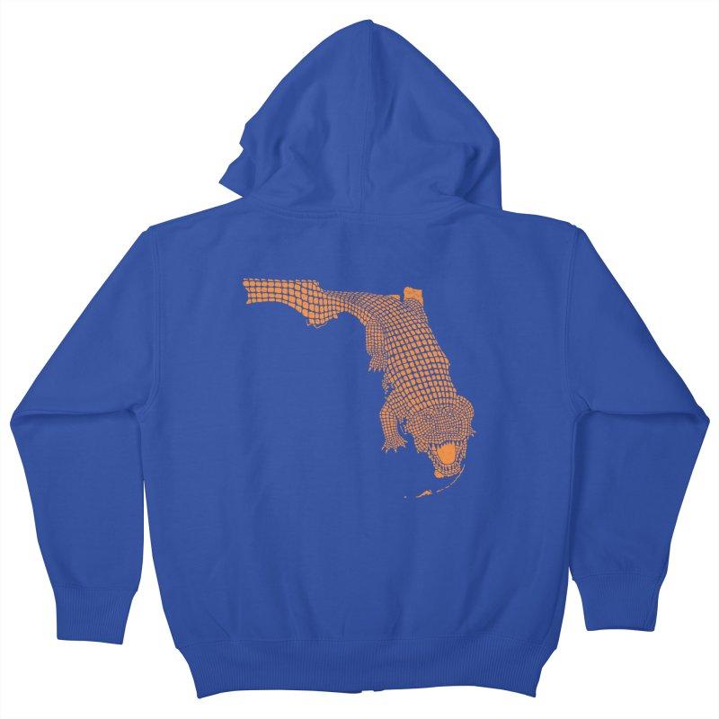 Florida Gator 2 Kids Zip-Up Hoody by Jason McDade