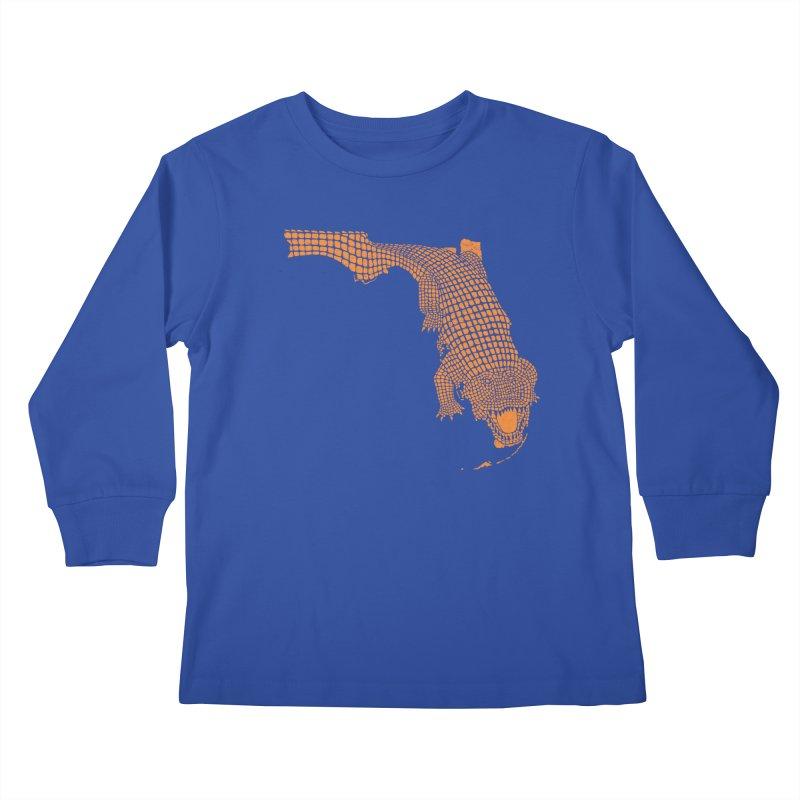 Florida Gator 2 Kids Longsleeve T-Shirt by Jason McDade