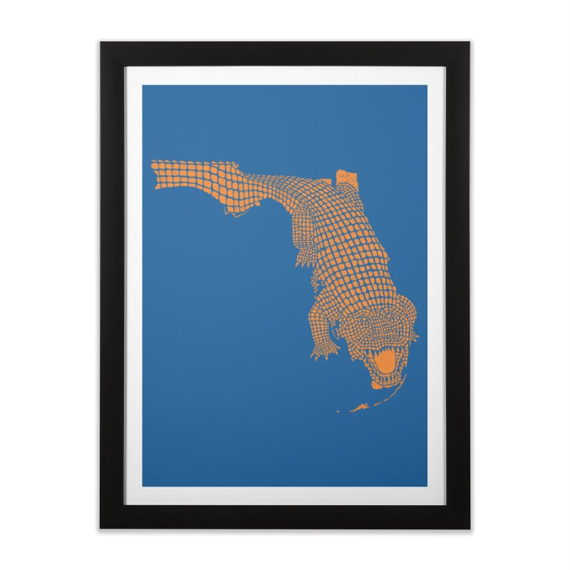 Florida Gator 2 Home Framed Fine Art Print by Jason McDade