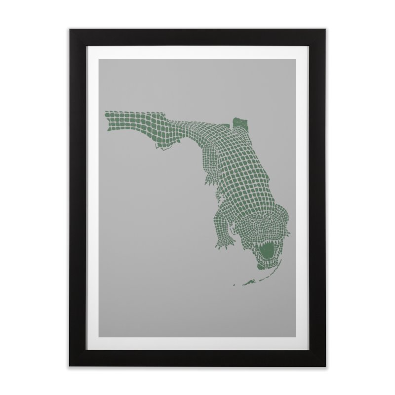 Florida Gator Home Framed Fine Art Print by Jason McDade