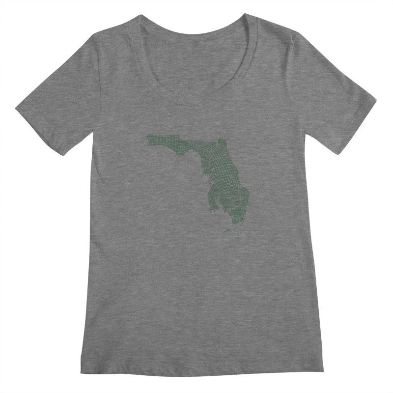 Florida Gator Women's Scoopneck by Jason McDade