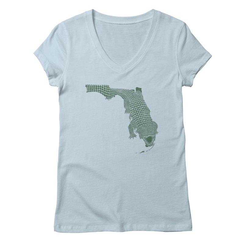 Florida Gator Women's V-Neck by Jason McDade