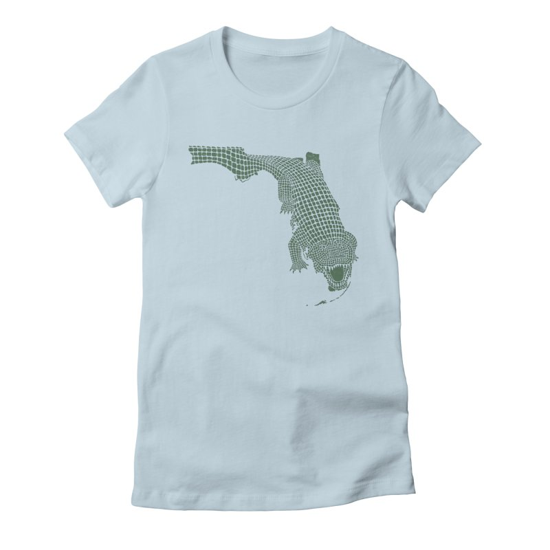 Florida Gator Women's Fitted T-Shirt by Jason McDade