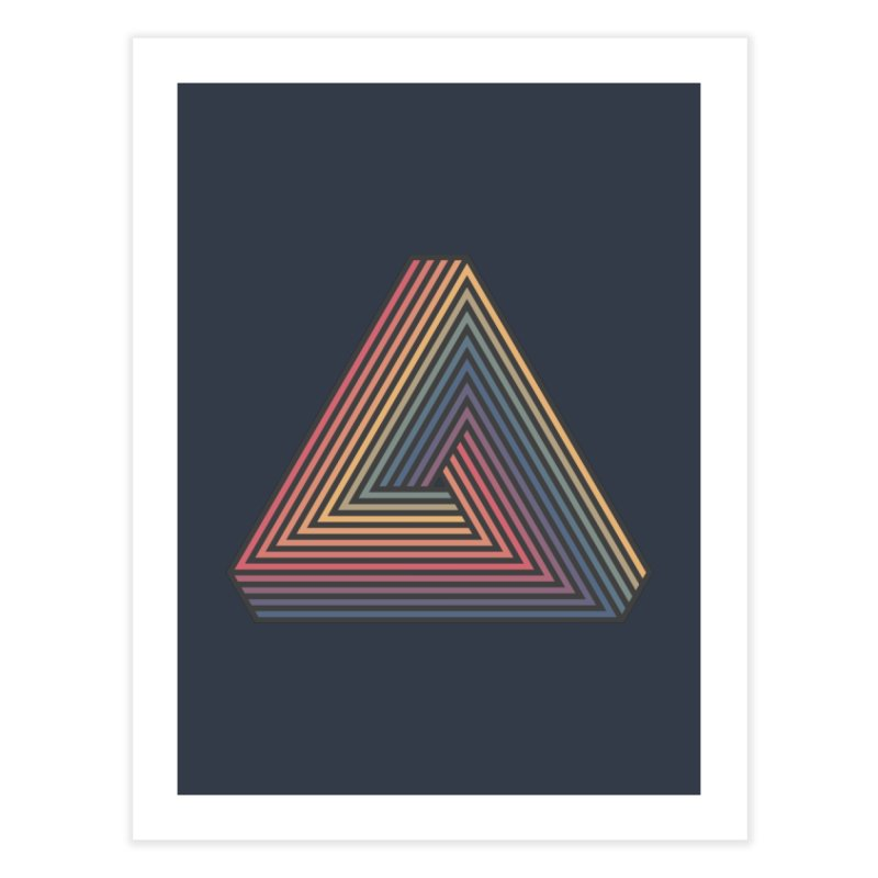 Penrose Triangle Home Fine Art Print by Jason McDade