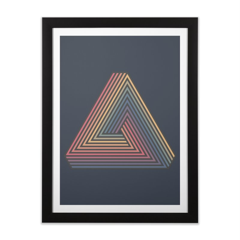 Penrose Triangle Home Framed Fine Art Print by Jason McDade