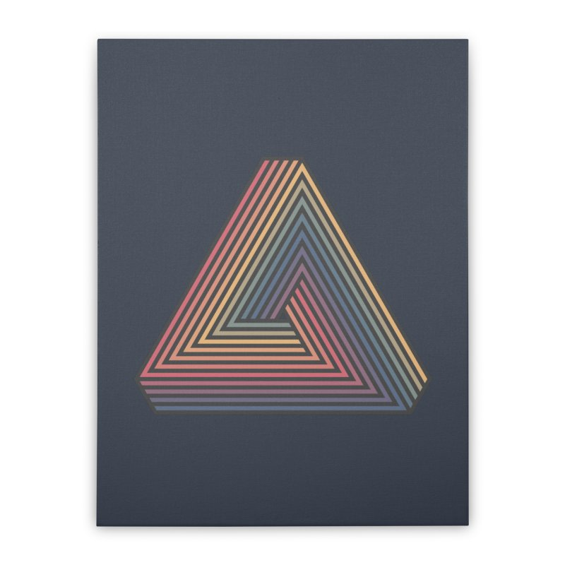 Penrose Triangle Home Stretched Canvas by Jason McDade