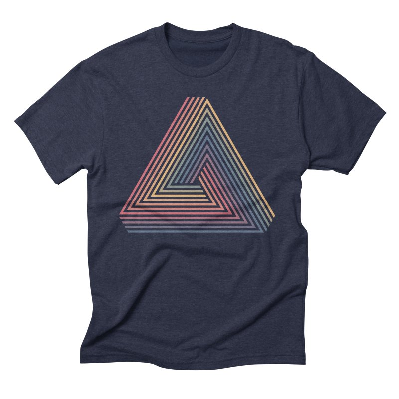 Penrose Triangle Men's Triblend T-Shirt by Jason McDade