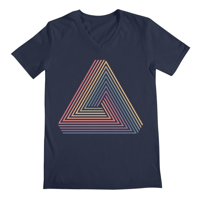 Penrose Triangle Men's V-Neck by Jason McDade