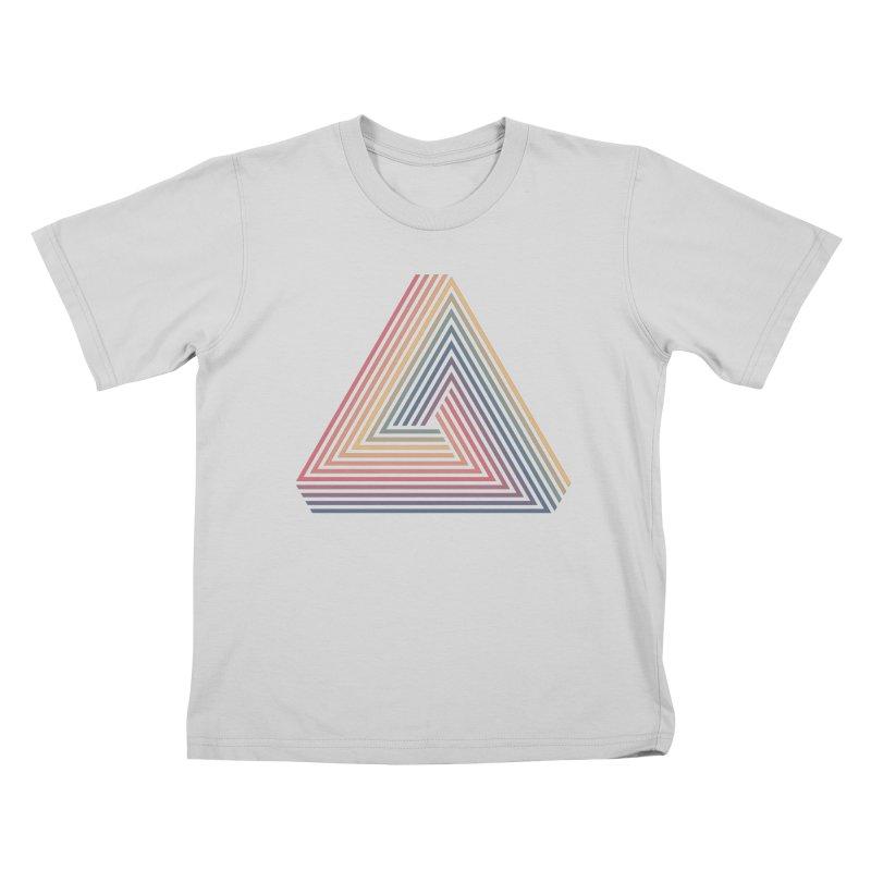 Penrose Triangle Kids T-Shirt by Jason McDade