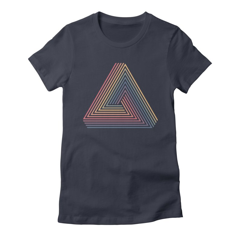 Penrose Triangle Women's Fitted T-Shirt by Jason McDade