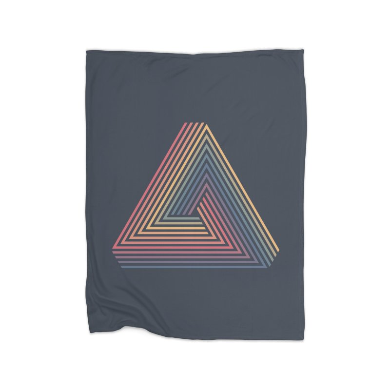 Penrose Triangle Home Fleece Blanket Blanket by Jason McDade