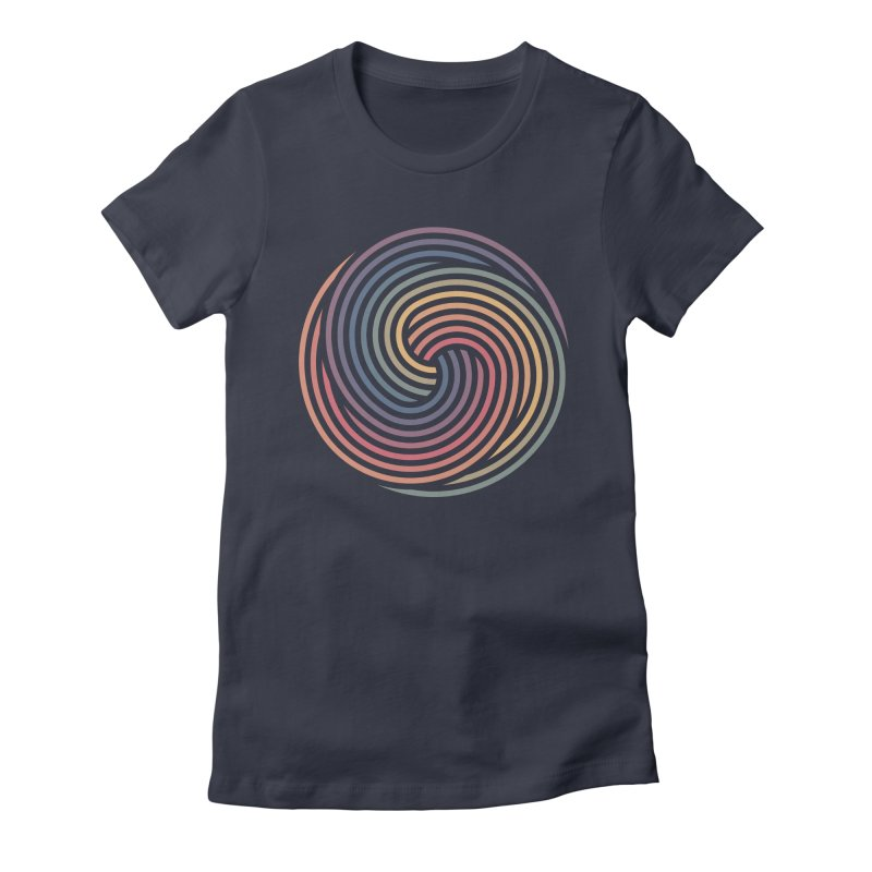 Penrose Spiral Women's Fitted T-Shirt by Jason McDade