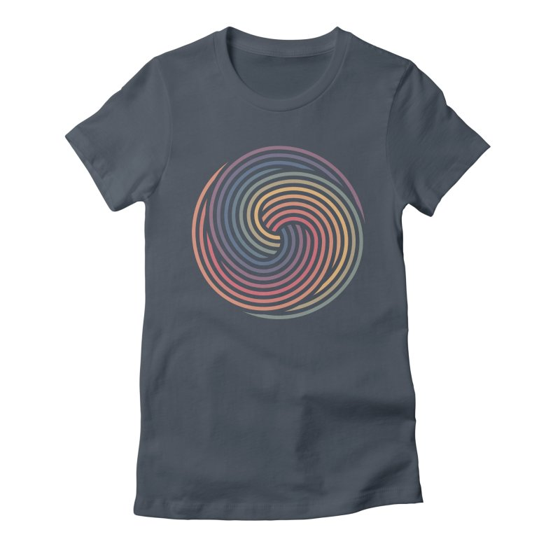 Penrose Spiral Women's Fitted T-Shirt by Jason McDade