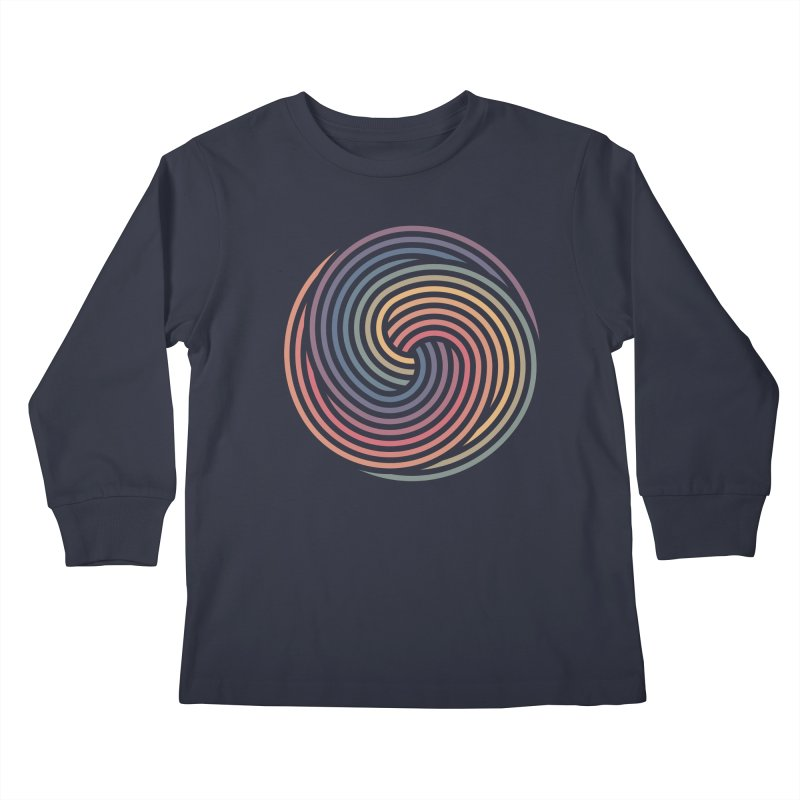 Penrose Spiral Kids Longsleeve T-Shirt by Jason McDade