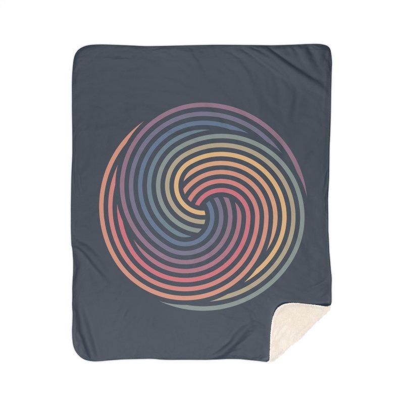 Penrose Spiral Home Sherpa Blanket Blanket by Jason McDade