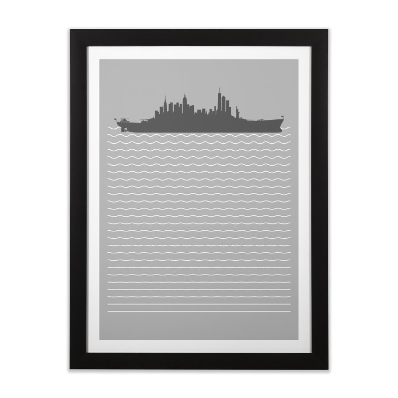 U.S.S. NYC Home Framed Fine Art Print by Jason McDade