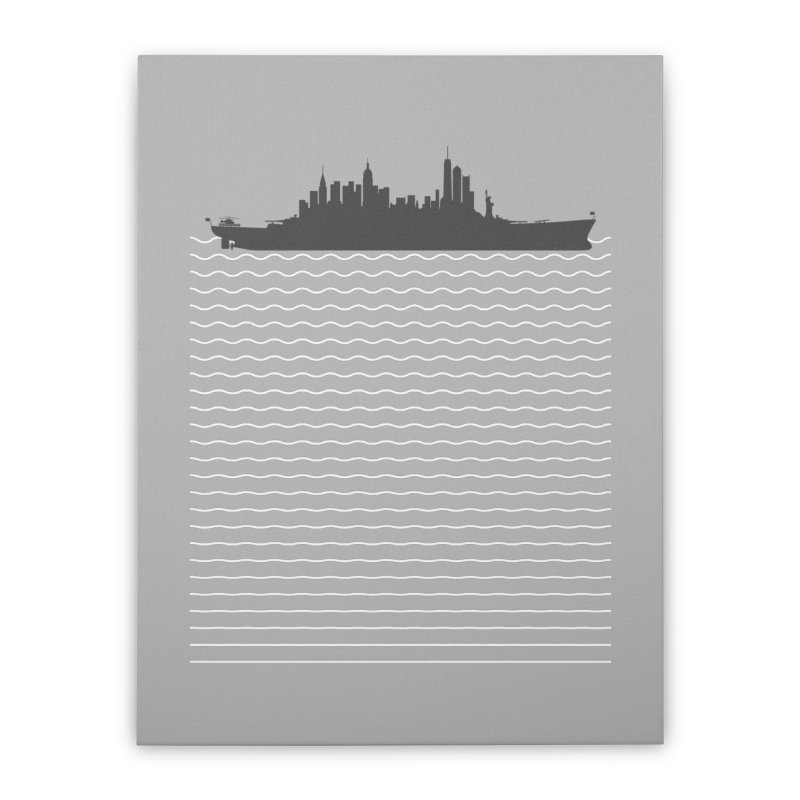U.S.S. NYC Home Stretched Canvas by Jason McDade