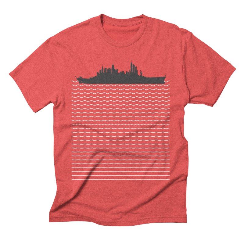 U.S.S. NYC Men's Triblend T-shirt by Jason McDade