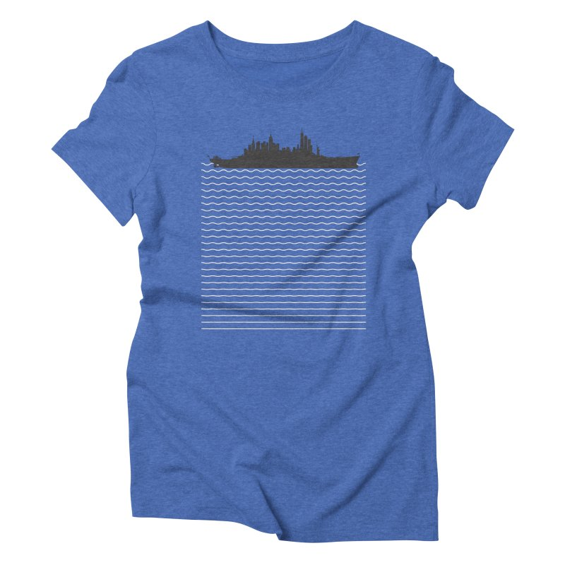 U.S.S. NYC Women's Triblend T-Shirt by Jason McDade