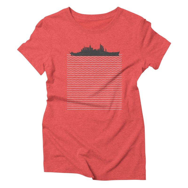 U.S.S. NYC Women's Triblend T-Shirt by Jason McDade